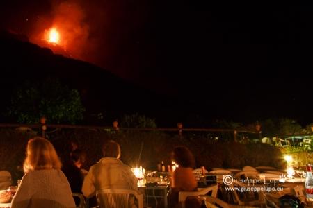 Stromboli seen from ristorante oservatorio
