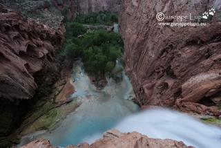 Mooney Falls seen from above