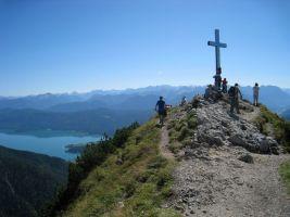 at Heimgarten peak view to alps