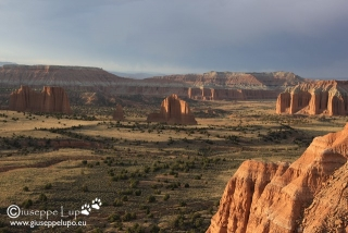 Upper Cathedral Valley at sunset