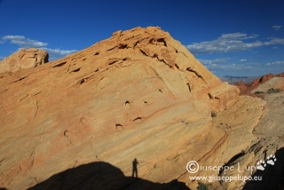 photographing my shadow in Valley of Fire S.P.