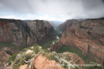 View from Observation Point to valley and Angels Landing