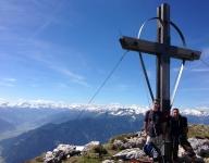 Klaus and me at the Peak, Mt. Heidachstellwand 2192 m (7191 ft)