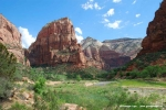 First view towards Angels Landing