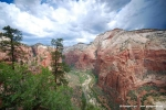 View from Angels Landing into Zion valley