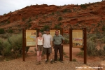 Goodbye Photo with Bianca + Matthias at Wirepass Trailhead sign.