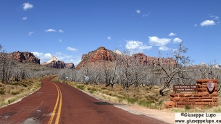 entrance to Kolob reservoir 8 miles north of the town of Virgin