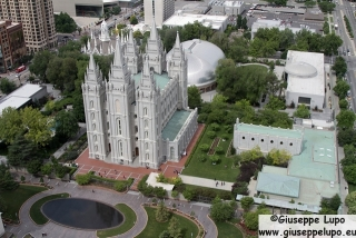 top view of Temple square area